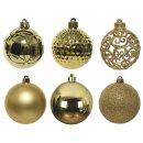 37er Set Kugelmix PVC gold Weihnachtskugeln Baumschmuck...
