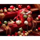 37er Set Kugelmix PVC gold Weihnachtskugeln Baumschmuck bruchfest Christbaumschmuck