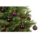 37er Set Kugelmix PVC ochsenblutrot Weihnachtskugeln...