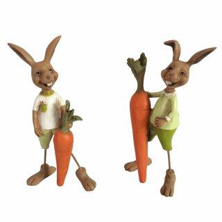 Deko Hase mit Möhre Preis für 2 Stück