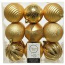 18er Set Kugelmix PVC gold Weihnachtskugeln Baumschmuck...