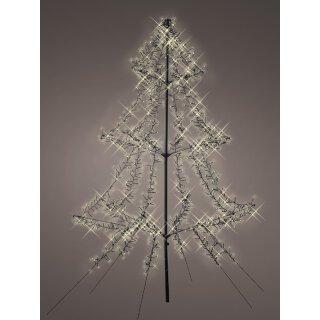 stimmungsvoller dekorativer LED Tannenbaum als dreidimensionale LED- Lichtersilhouette für innen und außen