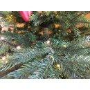 dekorativer Weihnachtsbaum Kunsttanne im Topf mit LED Beleuchtung warmweiß mit Blinkeffekt und Timerfunktion für innen und außen