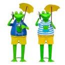 lustiger Dekofrosch Gartenfrosch Dekofigur Frosch mit...