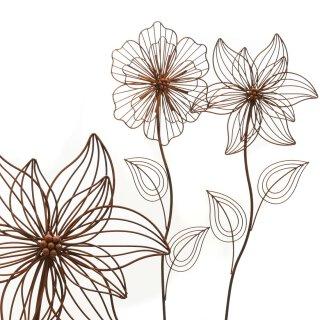 ausgefallener Gartenstecker Beetstecker Blume Metall edelrostig Preis für 1 Stück