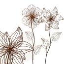 ausgefallener Gartenstecker Beetstecker Blume Metall...