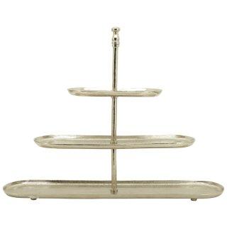 dekorative ovale Deko-Etagere Tisch-Etagere Küchen-Etagere 3-stufig Metall vintage Landhaus Stil