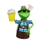 Zaunhocker Sepp Oktoberfest-Frosch Metall bemalt verschiedene Motive Preis für 1 Stück