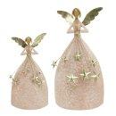 dekorativer ausgefallener Deko Engel mit Sternenregen...