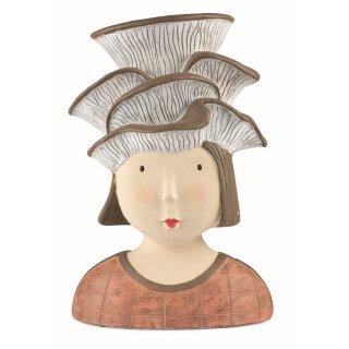 Ladykopf Dekokopf Dame mit Pilz als Hut