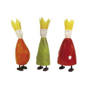 stimmungsvolle kleine Dekofigur König mit Krone zum stellen in 3 möglichen Farben klein