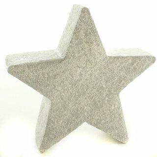 großer Deko-Stern Keramik weiß matt mit rauer Überfläche
