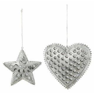 Anhänger Herz und Stern Preis für 2 Stück