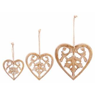 Herzhänger aus Holz