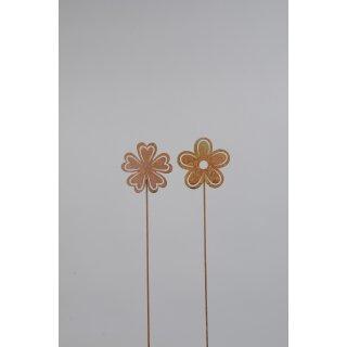 dekorativer Gartenstecker Blüte als 2-er Set